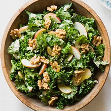 Kale & Apple Salad with Walnut Dressing