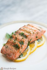 Pan Fried Salmon with Chenin Blanc Dill Sauce