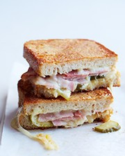 Inside-Out Grilled Ham & Cheese Sandwiches