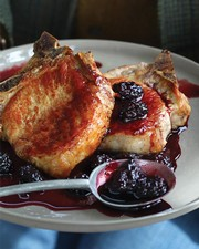 Pork Chops with Balsamic Cherry Sauce